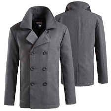 Surplus Men's Pea Coat Us Navy Wool Coat Caban Colani Short Coat Jacket[Anthracite,L]