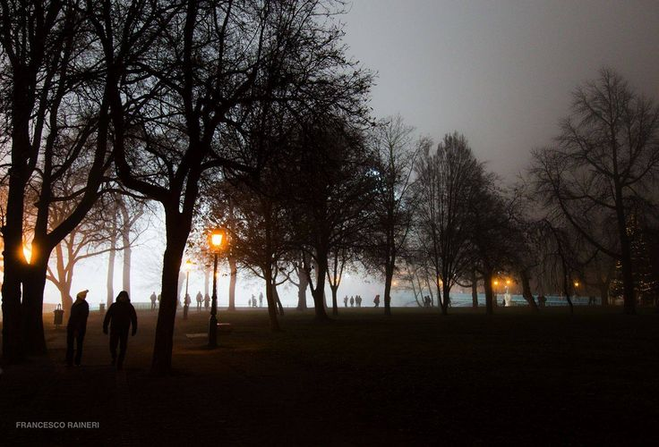 Budapest, people in the fog by Francesco Raineri