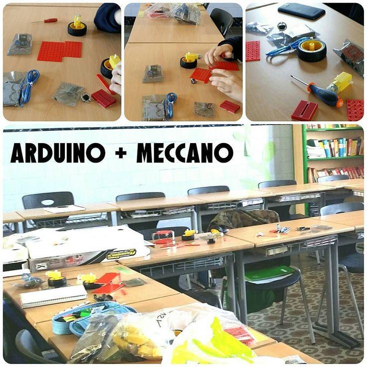 El projecte #Arduino#meccano#appinventor#bluetooth va agafant forma :) La #app per #android ja la tenim acabada i el muntatge va pel bon camí. Demà més! #campustecnològic #tecnologia #sallefigueres #figueres #legoev3 #legomindstorms #fll #coronasdk #lua #programacio #robotica #ensenyament #tic #novestecnologies #itfigueres by itfigueres
