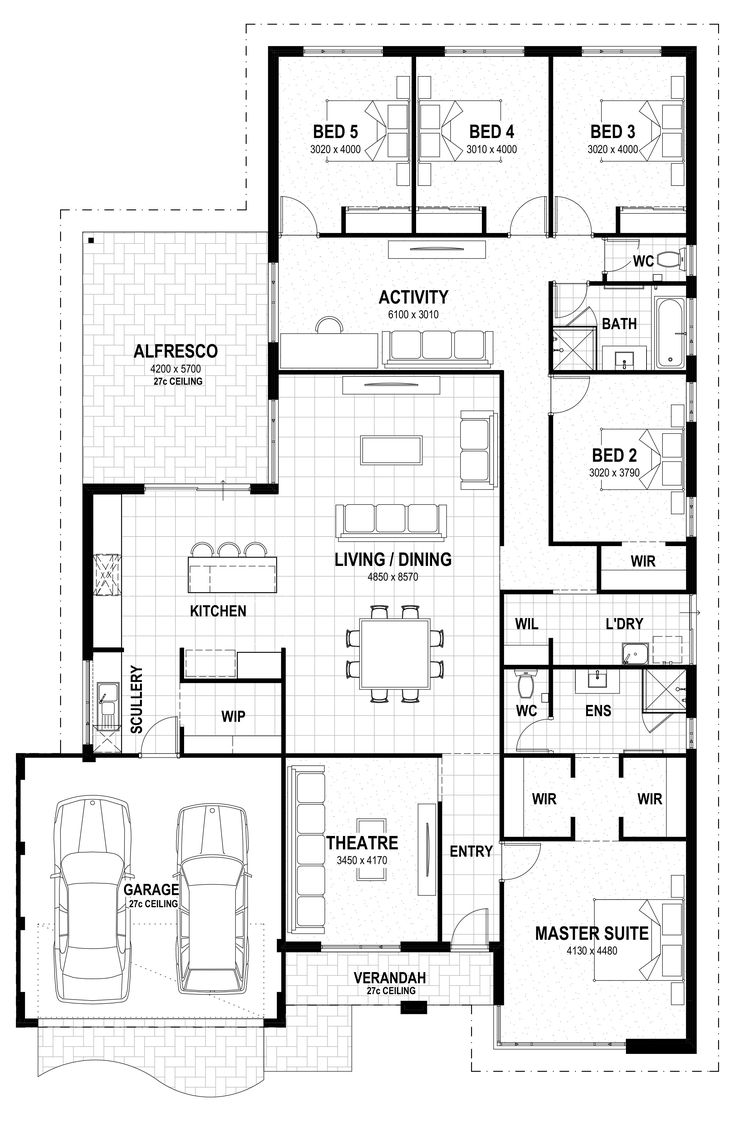 ❤ 5 beds Grand 17 floorplan