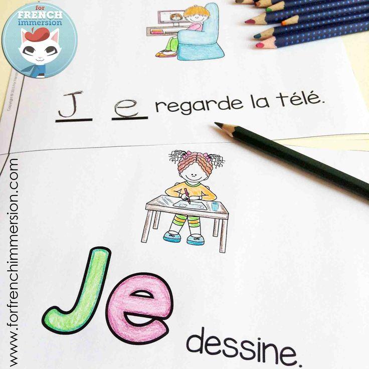 """FRENCH Emergent Reader - JE. This reader focuses on the so important pronoun """"je"""" and regular -er verbs. En français, pour les lecteurs débutants."""