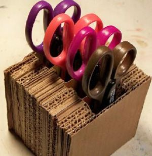 Great idea Craft Project: Scissor Holder   cover with fabric or paper even better