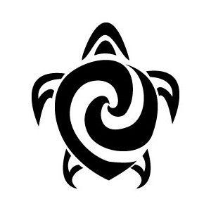 Tribal Turtle Glitter Tattoo Stencil