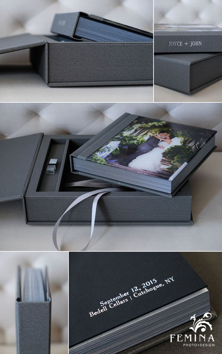 Eternal Collection Wedding Album 10x10 Wrapped In Stanton Gray Fabric Wedding Album Cover Design Photo Album Design Wedding Photography Album Design