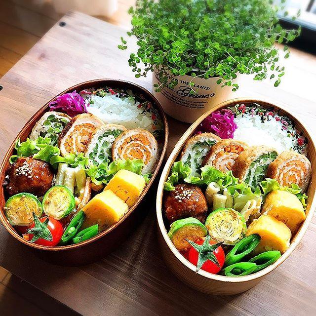2017.3.15 きょうのおべんとう @hiropon0201 さん考案の #野菜くるくる豚肉ロール  私も挑戦してみました! 己のあまりのクオリティの低さに愕然としましたが。゚(゚´Д`゚)゚。 夫は「なにこれーー!!すごいなー!!」 と喜んでくれていたので、とりあえず良しとします😅 * 今日も頑張ります♡ * * #弁当#お弁当#おべんとう#昼ごはん#お昼ごはん#lunch#obento#男子弁当#息子弁当#高校生弁当#夫弁当#わっぱ弁当#曲げわっぱ#野田琺瑯#お弁当部#クッキングラム#デリスタグラマー#delistaglammer#lin_stagrammer#kaumo