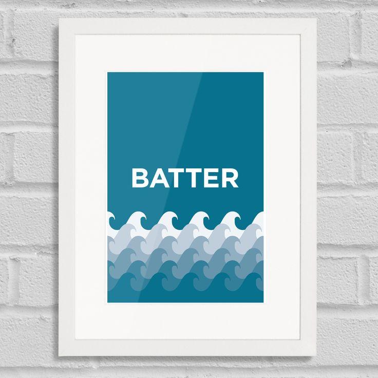 Pate Battersea Art Poster Print Place Pun White Frame