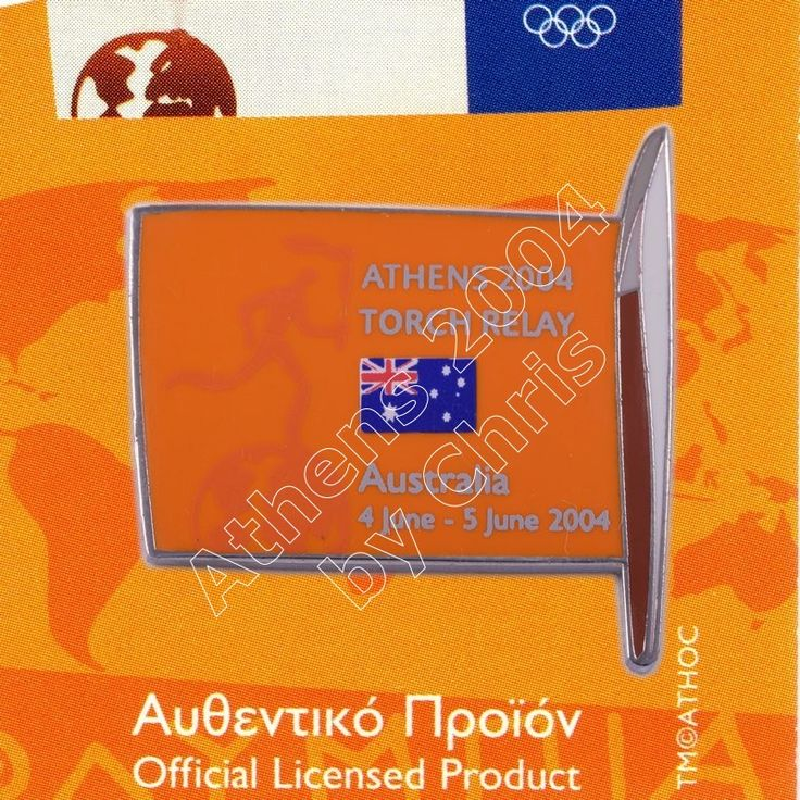 AUSTRALIA TORCH RELAY INTERNATIONAL ROUTE FLAG ATHENS 2004 OLYMPIC GAMES PIN https://olympicgamesathens2004.com/olympic/australia-torch-relay-international-route-flag-athens-2004-olympic-games-pin/