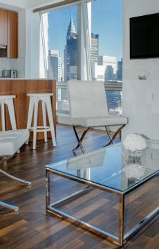City view from Midtown Jewel 33B, a spacious luxury residence off 5th Avenue, New York