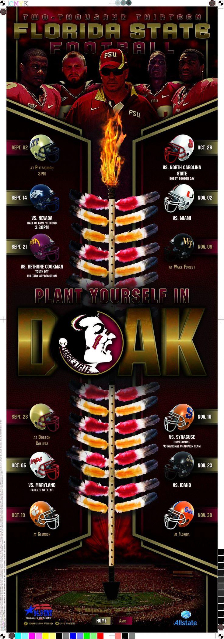 2013 Florida State Seminoles Football poster