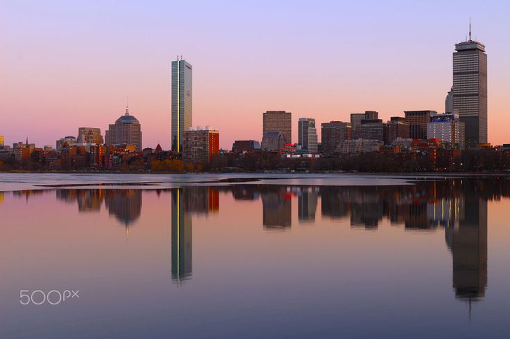 Boston Skyline Sunset over Charles River by Ajai B Photography on 500px