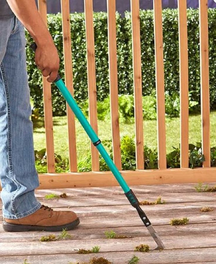 Crevice Cleaner Weed Whacker Gardening Yard Tool Telescoping Handle Wand Extend #Unbranded