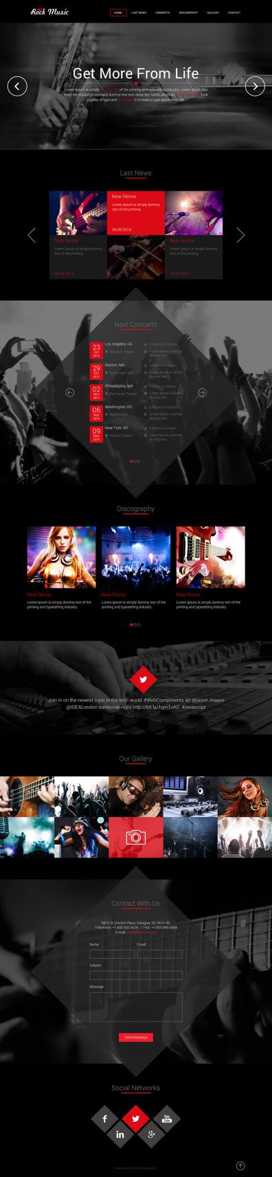 Individual Musician or Music Band Website Layout by designscodes