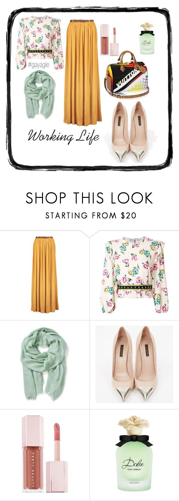 """""""Flowery Monday"""" by anggiswastika on Polyvore featuring RED Valentino, Altea, Louis Vuitton, Puma, Dolce&Gabbana and gayagie"""