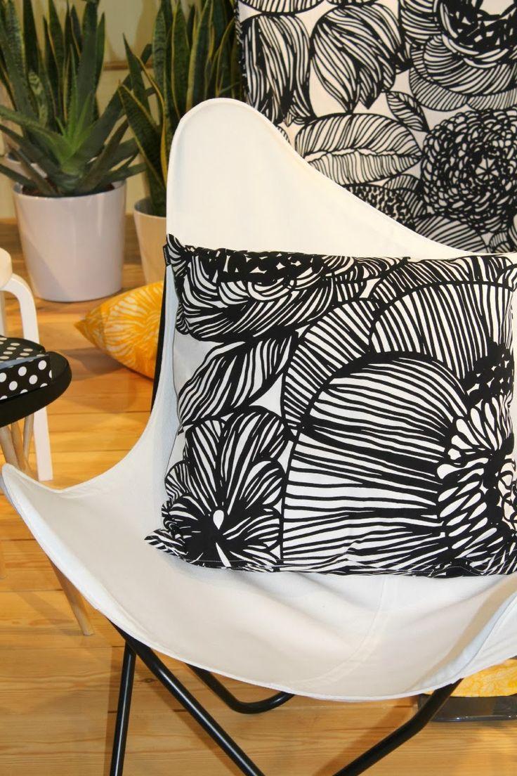 """""""Kurjenpolvi"""" fabric from Marimekko 2014 (http://cimmermann.co.uk/blog/scandinavian-style-uncovered/)"""