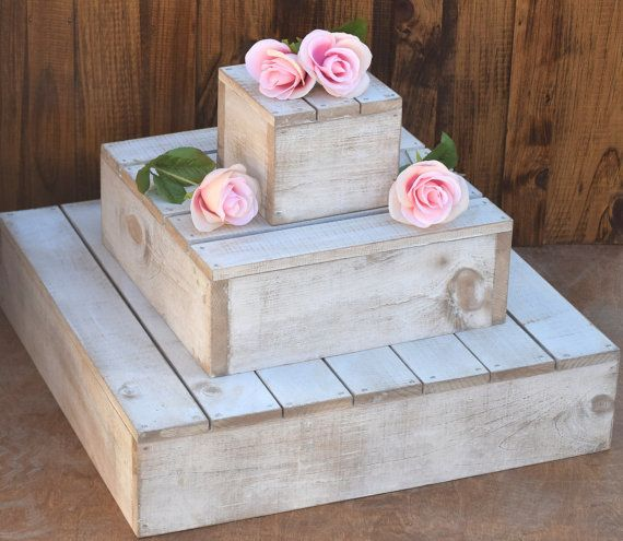 Wood Cupcake Stand 3 Tier Cupcake Holder by CountryBarnBabe