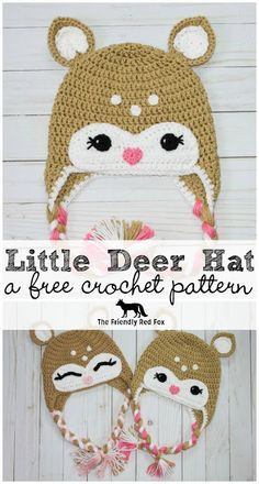 Free Crochet Little Deer Hat Pattern