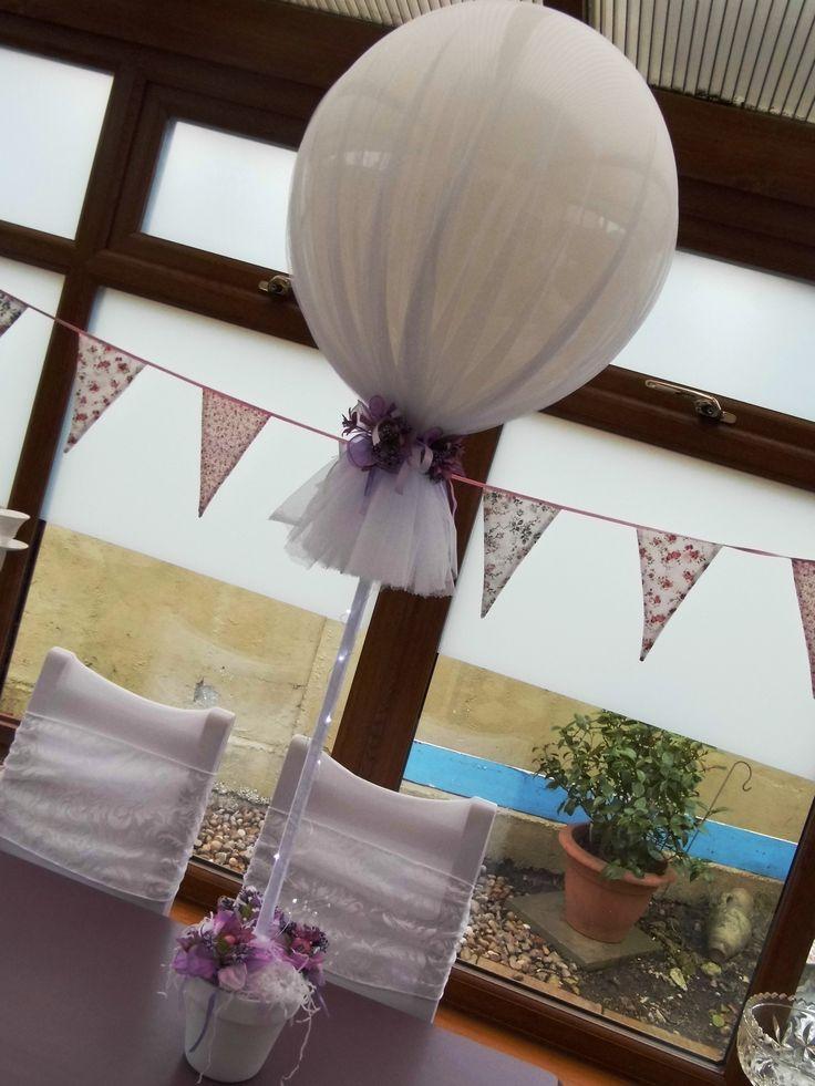 Tulle covered balloons wedding inspiration pinterest