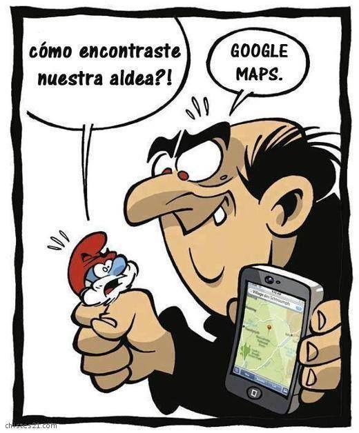 Humor Geek - Google Map #Tecnologia #GoogleMap #Humor