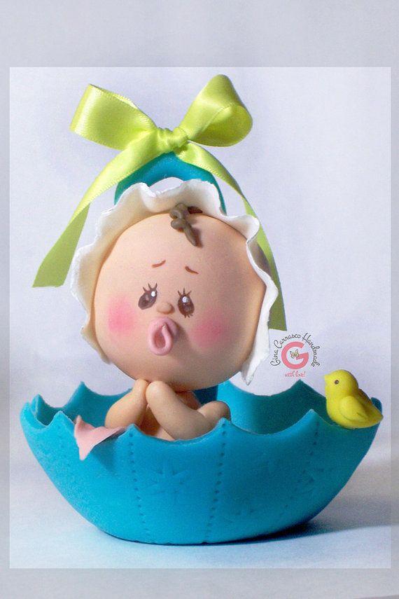 Cake Topper Umbrella And Baby