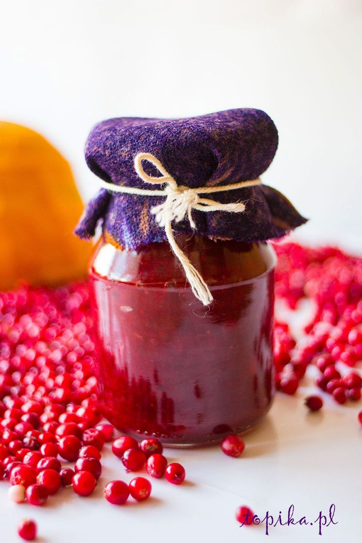 Red bilberry jam with pumpkin - Topik (use translate pulldown menu on right of website to translate from polish to english)
