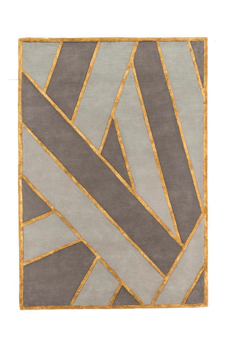 Gorgeous rug with metal thread designed by Matteo Cibic for Nesso Collection