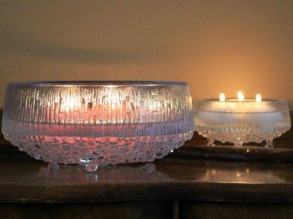 Vintage Iittala Ultima Thule Crystal Bowls by MillyCatVintage