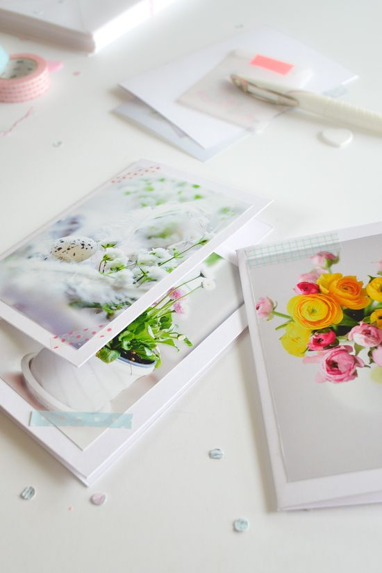DIY Handmade photo Card | Personalized cards. See step by step on the blog.