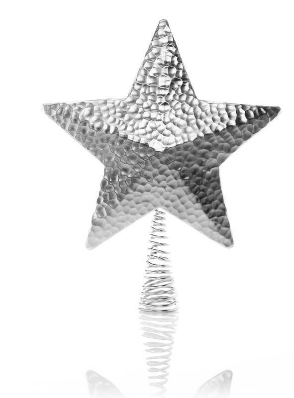 Wendell August hammered aluminum star tree topper, $65