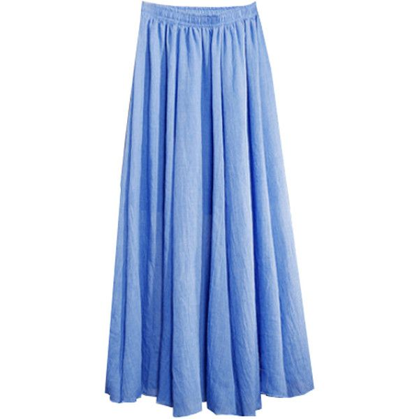 FC Select SS17 Fairtrade Cotton Maxi Skirt ($41) ❤ liked on Polyvore featuring skirts, maxi skirts, blue maxi skirt, maxi length skirts, long skirts and long blue skirt