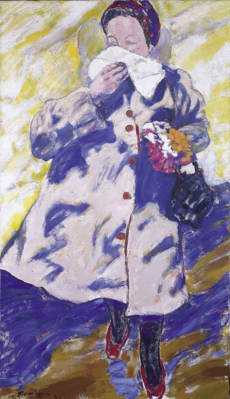 Señora, 1984. Acrílico sobre tela, 130 x 80 cm.