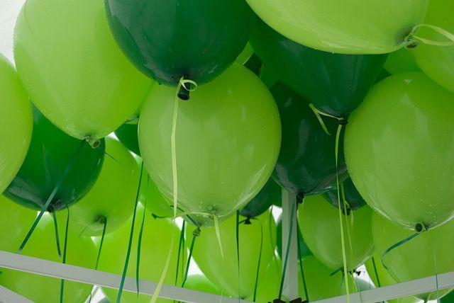oakridge block party.green balloons by LS Lam, via Flickr