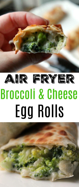 Air Fryer Broccoli Cheese Egg Rolls Recipe Egg rolls