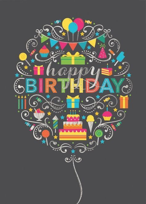Happy birthday in balloon