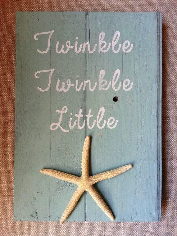 Twinkle Twinkle Little Starfish nautical nursery decor by BurlapAndLaceCA, $20.00  Cute baby shower gift!