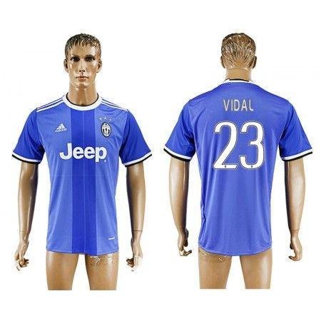 Juventuss 16-17 #Vidal 23 Bortatröja Kortärmad,259,28KR,shirtshopservice@gmail.com