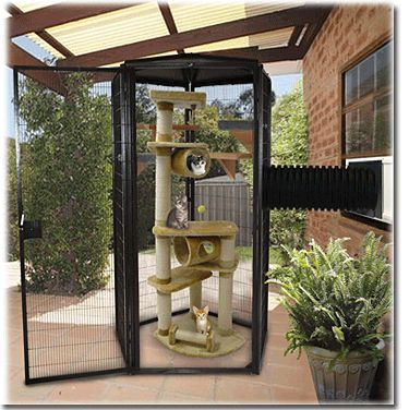 4ft SunCATcher Cat Cage, Cat Condo, Outdoor Cat Enclosure.  I love this product.  So many variations.