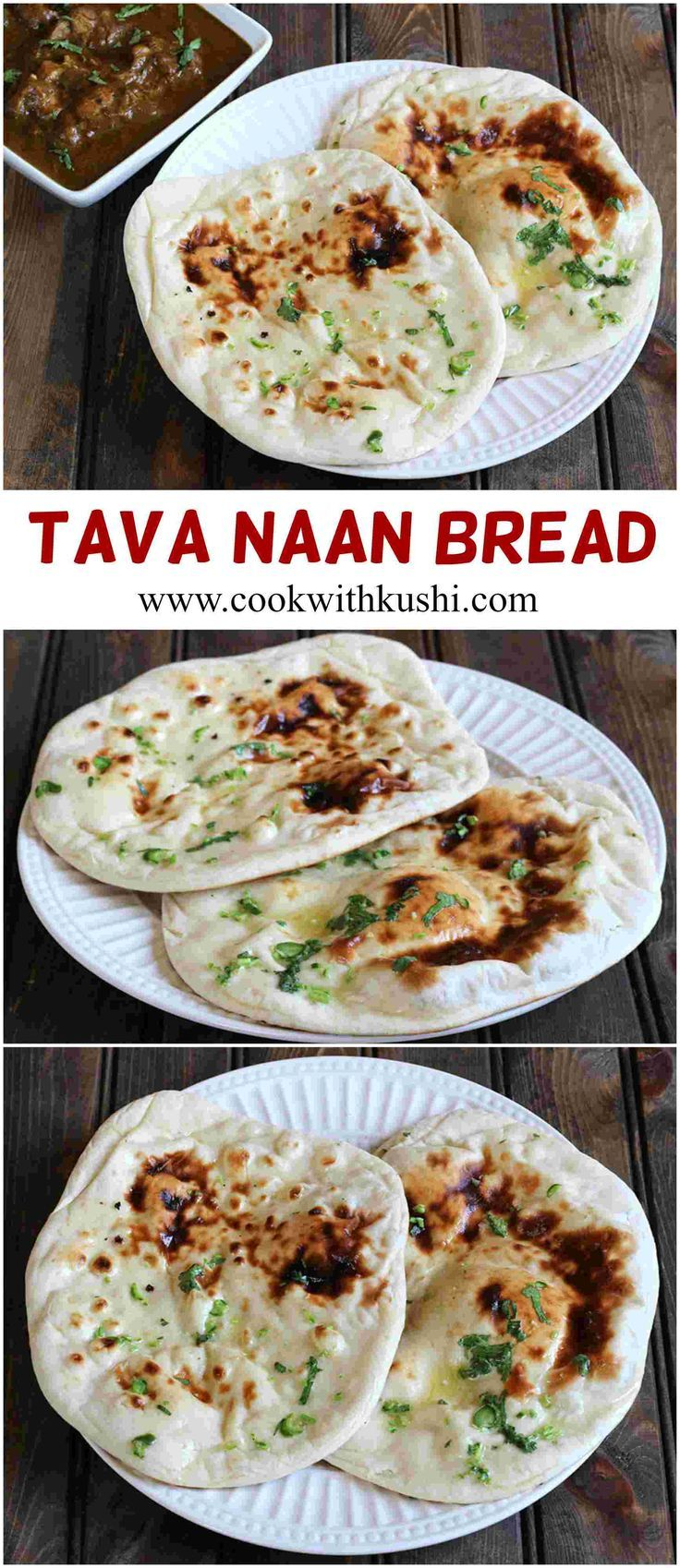 Tava Naan is a soft and chewy, delicious and super easy to make Indian flat bread recipe prepared on a cast iron skillet. #vegan #bread #breakfast #Lunch #dinner #naan @feedfeed @bhg