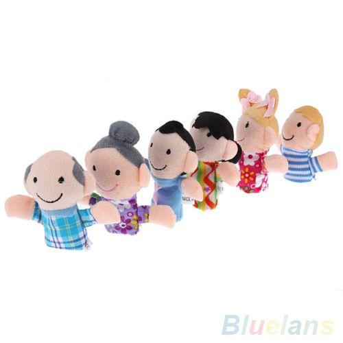 Купить товар6 шт. детские дети плюшевые ткани играть в игру жж история семья палец куклы игрушки комплект 2MAX 3H93 в категории Марионеткина AliExpress.  Спецификация: Компактный дизайн, вы можете носить их на пальцы и Пальцы двигаться. Довольно мило куклы, лучший реквизит