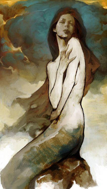 ♒ Mermaids Among Us ♒ art photography paintings of sea sirens & water maidens - by hoooook
