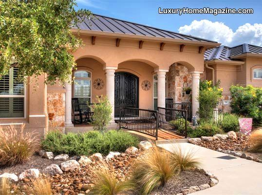 All Stone Single Level Luxury Home #homes #house #front #door #entry