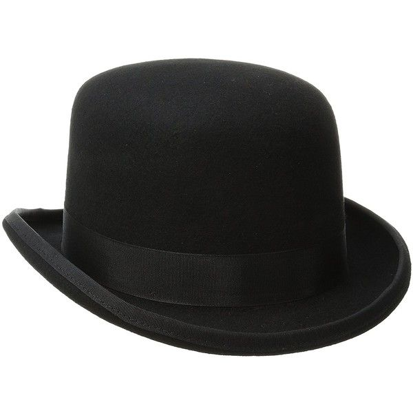 Scala Men's Wool Felt Derby Hat at Amazon Men's Clothing store: ($32) ❤ liked on Polyvore featuring men's fashion, men's accessories, men's hats, mens hats, mens felt hat, mens wool hats and mens derby hats