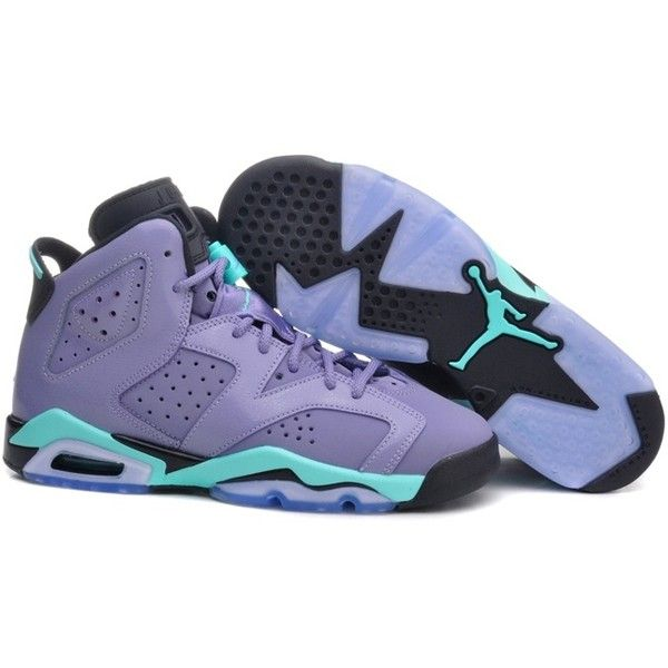 Nike Air Jordan VI 6 Retro Womens Shoes New Light Purple Black ( 111) found  on Polyvore  124cea75e828d