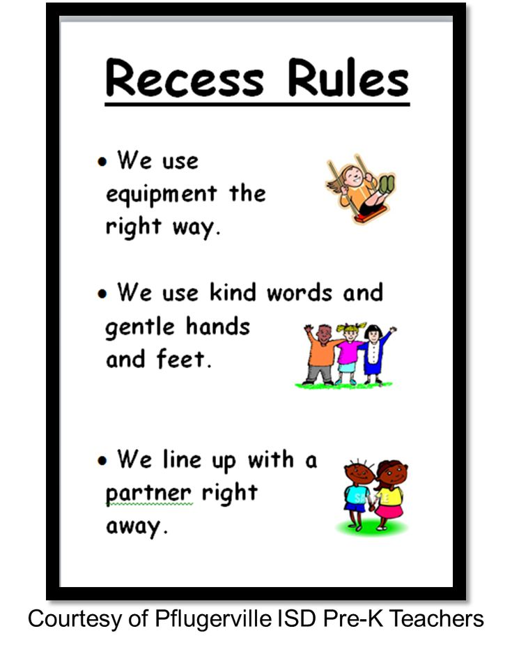Recess rules created by Pflugerville ISD teachers