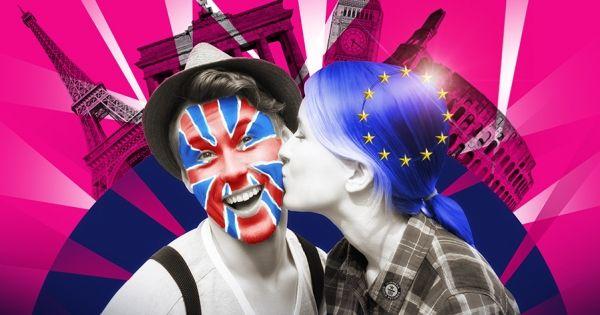 """Ce dimanche, les Parisiens tenteront de battre le record de la plus longue """"chaîne de baisers""""... pour montrer au monde que l'Europe est bien meilleure unie avant le vote Brexit! Cliquez pour participer."""