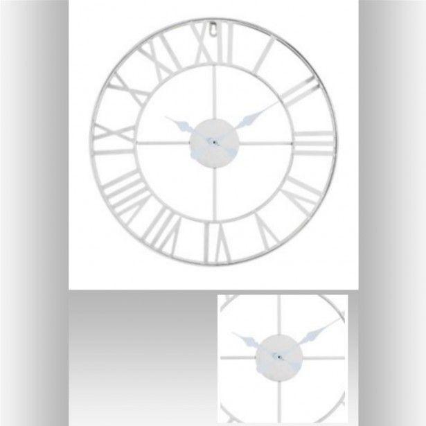 Les 25 meilleures id es de la cat gorie horloges murales - Grande horloge murale blanche ...