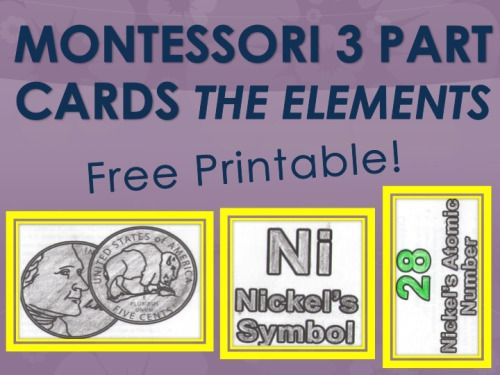 13 best periodic table activities images on pinterest periodic montessori 3 part cards activity the elements pre school and kindergarden urtaz Images