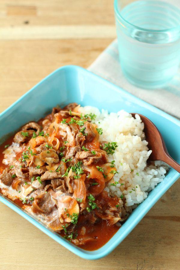 レンジでかんたん!デミグラ丼 by 森崎 繭香 | レシピサイト「Nadia | ナディア」プロの料理を無料で検索