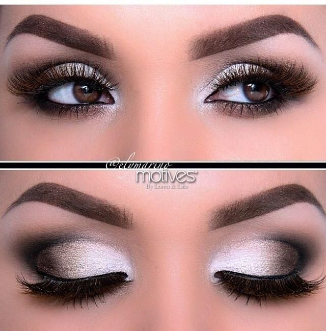 White dress eye makeup