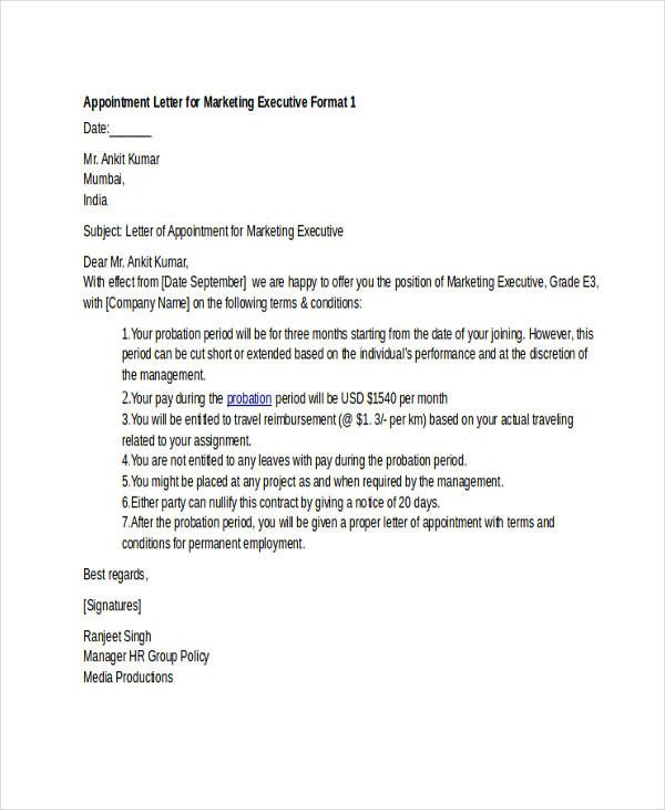 29 Job Offer Letter Examples With Images Lettering Marketing