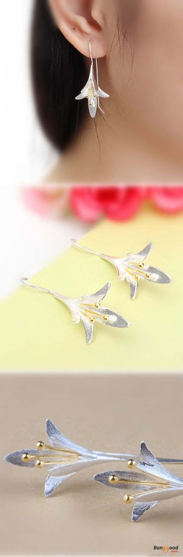 US$8.99+Free shipping. Material: S925 Silver. Color: Silver.  Fall in love with elegant and trendy style! Women's Jewelry, Women's Earrings, Women's Fashion, Christmas Accessories.